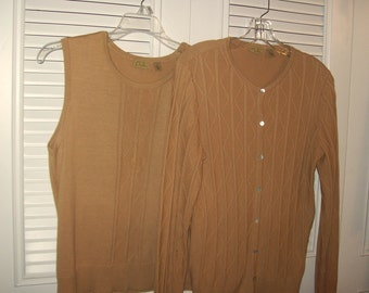 Sweater Set 12, Vintage Caslon Sweater Set That Hints of Fall - Size Small -  Medium see details