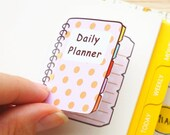 Kawaii Mini Planner Book Full Box Check List Blank Planner Planning Sticker Stickers for Erin Condren Daily Personal Amelie #0467