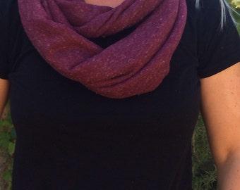Burgundy jersey infinity scarf, burgundy scarf, infinity scarf, burgundy infinity scarf, women's fashion scarf