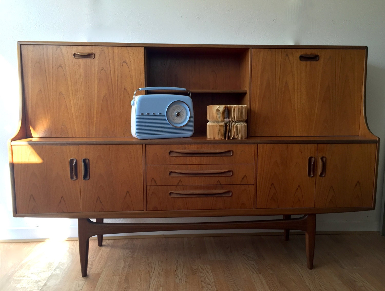 Retro vintage g plan sideboard highboard bureau mid century design 1960s - Bureau design vintage ...