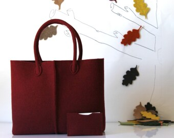 Elegant and Casual Felt Bag from Italy, Tote Bag, Felt Tote, Everyday Tote, Handmade bag, Gift For Her, Christmas Gift For Her