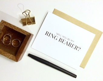 Card - Will You Be My Ring Bearer? | Wedding Party Card, Wedding Card