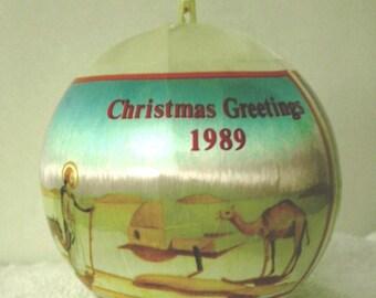 1989 Christmas Greetings Tree Ornament