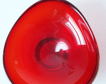 Vintage Ruby Red Glass Bowl