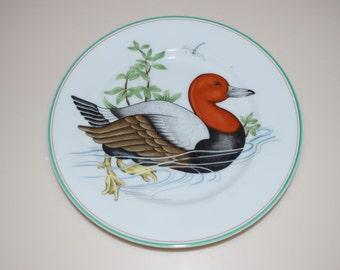 "Fitz & Floyd Canard Sauvage Duck Dessert Salad Plate Dish 1980 7.5"""