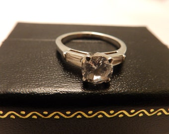 Size 7 Sterling Silver CZ Engagement Ring
