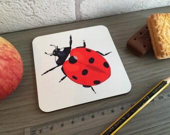 Ladybird ladybug coaster. Insect bug coaster. Teacher thank you gift