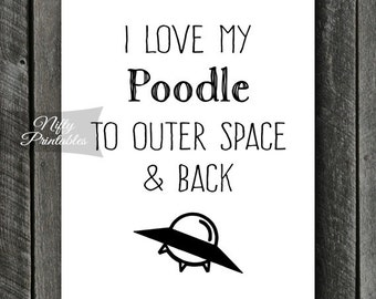 Poodle Print - INSTANT DOWNLOAD Poodle Art - Funny Poodle Poster - Poodle Gifts - Printable Poodle Wall Art - Poodle Dog Art