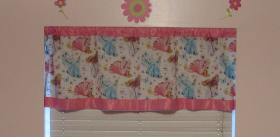 Princess satin edge curtains/cotton valance/choice satin edge color