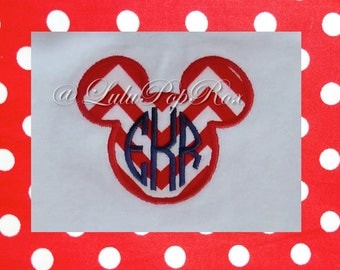 Mickey Mouse Applique Machine Embroidery Digital Design INSTANT DOWNLOAD