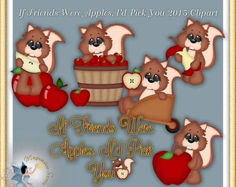 Harvest Clipart, Apple, Squirrel, If Friends Were Apples 2015