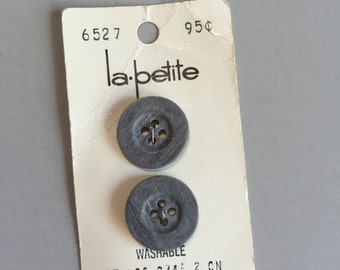 "VINTAGE GREY BUTTONS,vintage dark grey button, vintage grey button, round  buttons, grey buttons, 3/4"" grey button, grey sewing supply"