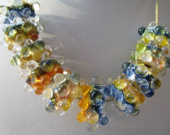 Handmade lampwork glass 10 beads set