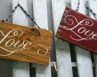 Love sign, rustic wedding, wedding signs, shabby chic decor, farmhouse decor