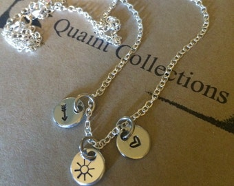 Perfect brightness 3 charm necklace