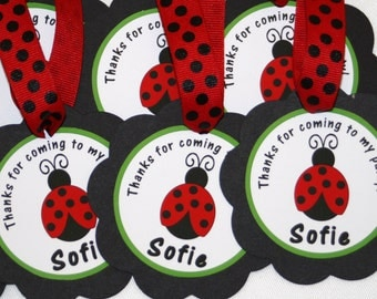 Little Ladybug Favor Tags