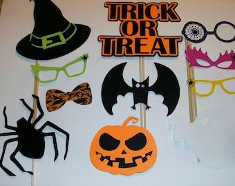 Halloween / Trick or Treat / Witch / Pumpkin / Bat / Spiders Photo Prop (2155D)