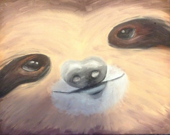 Sloth Oil Painting