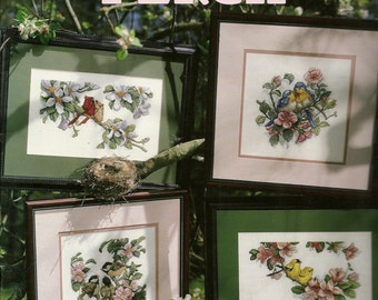 Favorite Perch and Tender Blooms Cross Stitch Charts