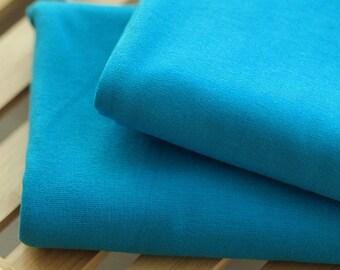 Cotton Jersey Knit Fabric Aqua Blue By The Yard