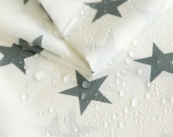 Waterproof Fabric Gray Stars By The Yard
