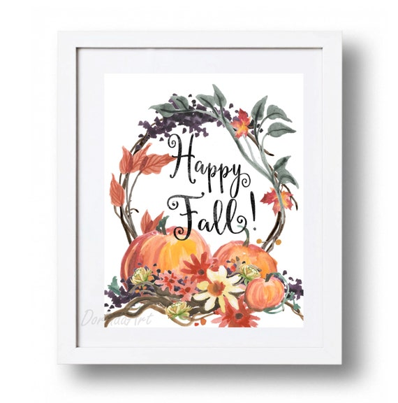 Items Similar To Happy Fall Sign Printable Large Autumn