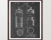 Cocktail Shaker - Martini - Cocktail Art - Bar Room - Drinking Art - Kitchen Art - Patent Print - Patent Poster - Happy Hour - Drinks