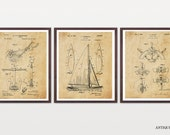 Sailing Patent - Sailboat Patent - Inventions of Sailing - Anchor Patent - Ship Wheel Patent - Ship Art - Nautical Patent - Nautical Poster