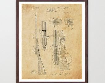 Rifle - Gun Patent - Bolt Gun - Gun Poster - Rifle Art - Rifle Patent - Shooting - Gun Wall Art - Rifle Poster - Rifle Wall Art - Gun Lover