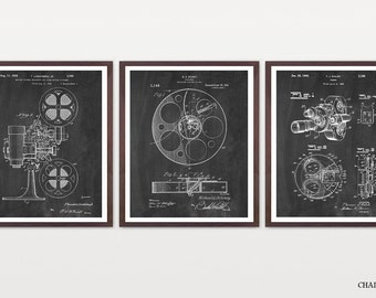 Cinema Patent - Inventions of Film - Movie Poster - Movie Patent - Film Poster - Film Patent - Movie Camera - Projector - Film Reel -