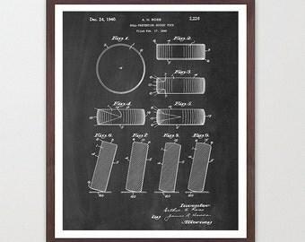 Hockey Poster - Hockey Art Print - Hockey Puck - Patent Print - Patent Poster - Hockey Patent - Poster- Vintage Hockey - Puck