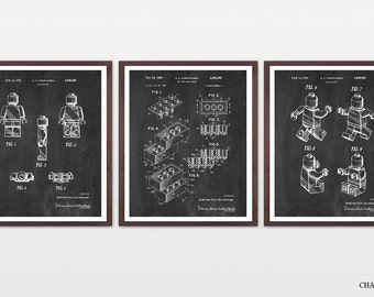 Lego Patent Print - Lego Inventions - Lego Poster - Lego Movie - Lego Movie Poster - Lego Art - Boy's Room Art - Boy's Room Poster - Lego