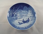 Bing and Grondahl Christmas Plate 1970  Collectors Plate, Denmark