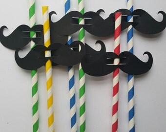 mustache, black mustache, straw mustache, mustache straw, fun mustache, photo prop, photo booth, paper mustache, mustache die cut