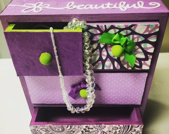 Jewelry box - Gifts for little girls - girls gift - birthday gift - trinket box - custom jewelry box  - first birthday gift