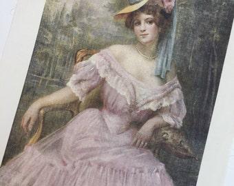 Silk Print - Portrait of a Lady