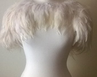 Feather bridal cape, made to order.