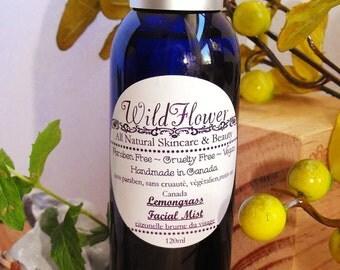 Lemongrass Facial Refresher Spray, Cruelty free, Paraben free, Vegan, All natural