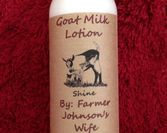 Goat Milk Lotion Shine 4 oz