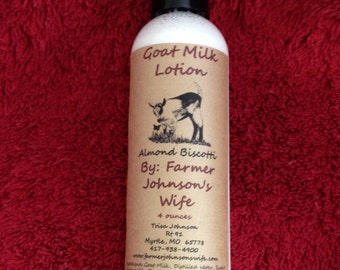 Goat Milk Lotion Almond Biscotti 4 oz