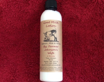 Goat Milk Lotion Oatmeal, Milk & Honey 8 oz