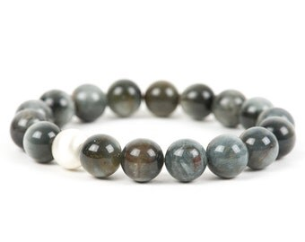 Cat's Eye Bracelet, Grey Green Cats Eye Natural Gemstone Bracelet, Gemstone Bracelet, Handmade Jewelry, Gemstone Jewelry