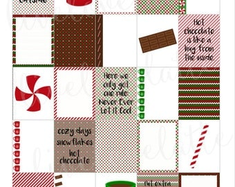 HOT CHOCOLATE WINTER for use with Erin Condren Life Planner (vertical) - digital - Instant Download