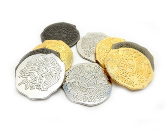 Pirate Coins BEST DEAL on this Treasure - 12 coins  (RK49B5-01)