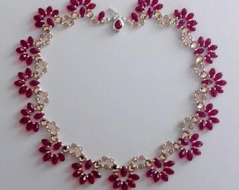 Swarovski Crystal and Silver Princess Length Necklace