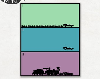 BACK to the FUTURE TRILOGY Minimalist Movie Poster, Fine Art Print