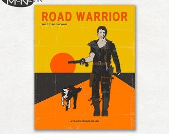 MAD MAX, Road Warrior Movie Poster, Fine Art Print (Orange Version)
