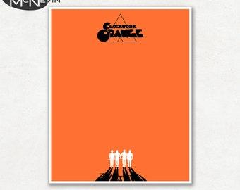 A CLOCKWORK ORANGE Minimalist Movie Poster, Fine Art Print