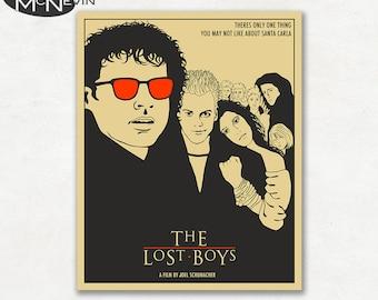 THE LOST BOYS, Movie Poster, Fine Art Print (beige version)