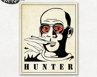 HUNTER S. THOMPSON Poster, Fine Art Photographic Print, Portait